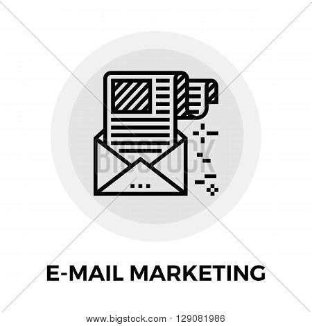 E-mail Marketing icon vector. Flat icon isolated on the white background. Editable EPS file. Vector illustration.