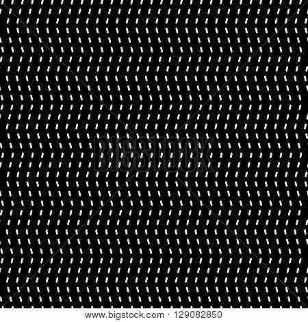 Wavy Dashed Lines Repeatable Pattern