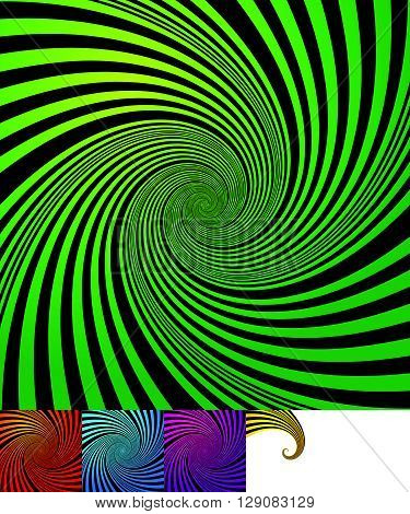 Abstract Background(s) With Vortex, Spiral Shape
