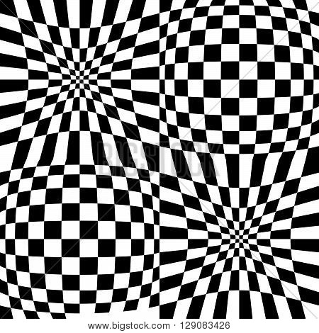 Checkered Pattern With Distortion Effect