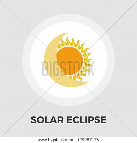 Solar eclipse icon vector. Flat icon isolated on the white background. Editable EPS file. Vector illustration.