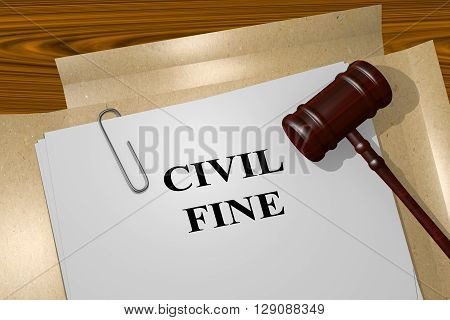 Civil Fine Legal Concept