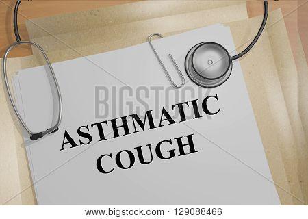 Asthmatic Cough Medicial Concept
