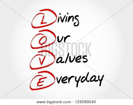 Love - Living Our Values Everyday
