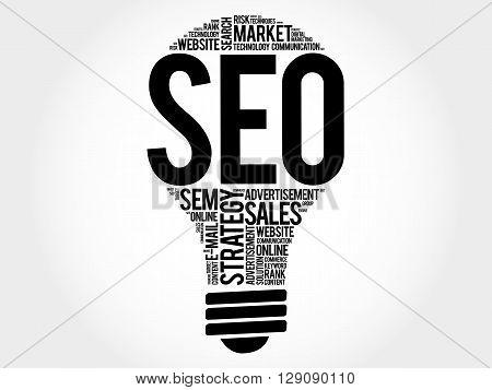 Seo (search Engine Optimization) Bulb