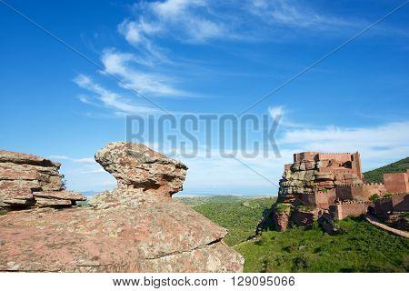 Peracense Castle, X-XI centuries, in Teruel province, Aragon, Spain