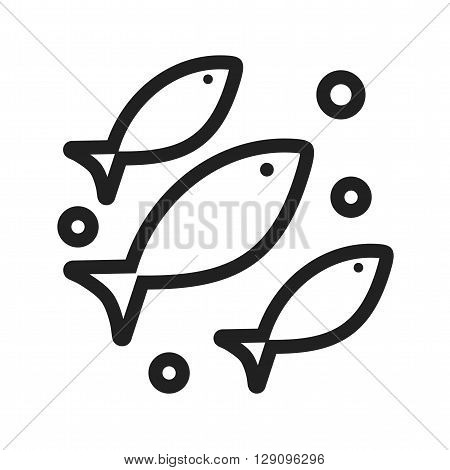 Fish, sea, swimming icon vector image. Can also be used for seasons. Suitable for use on web apps, mobile apps and print media.