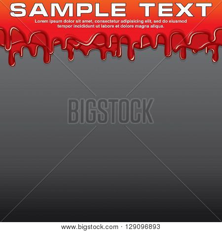 Red Liquid, Dribble Paint Banner. Vector Ready for Your Text and Design.