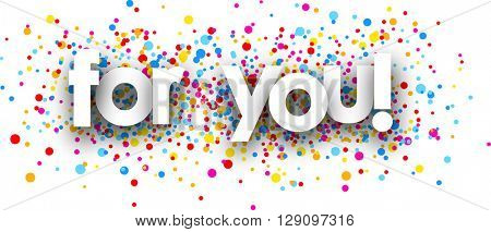 For you paper banner with color drops. Vector illustration.