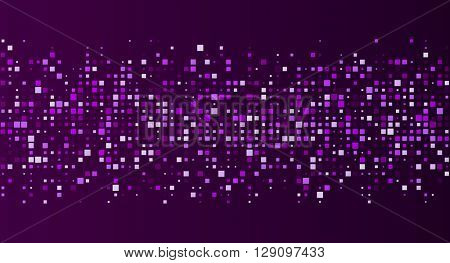 Purple abstract background with squares. Vector paper illustration.