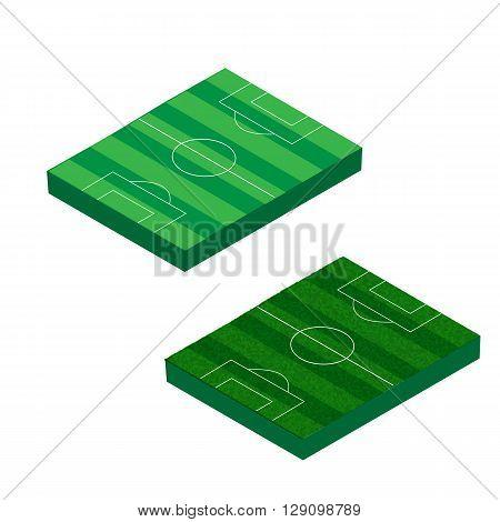 Isometric soccer field.  Isometric soccer field. Isometric soccer field. Isometric soccer field. Isomeric Vector.