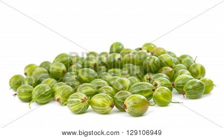 gooseberries isolated on a white background fruit, frond, health,