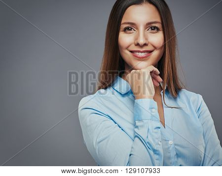 Confident And Content Businesswoman