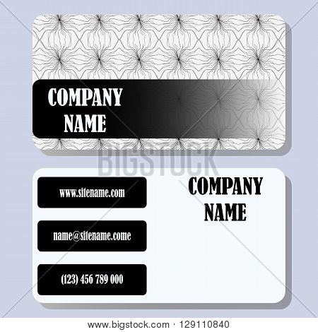 Business card template with a simple background and concise design.