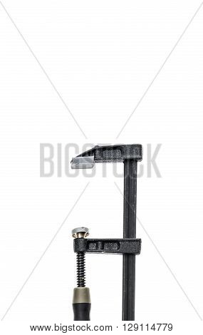 Two Carpenter Clamp Isolated On White Background.