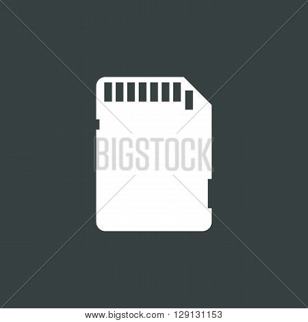 Sd Card Icon In Vector Format. Premium Quality Sd Card Symbol. Web Graphic Sd Card Sign On Dark Back