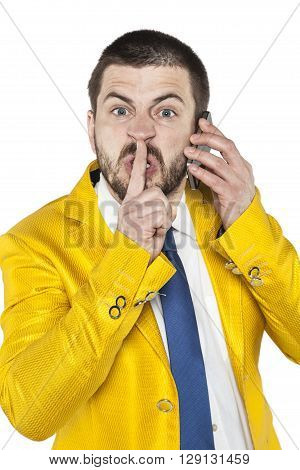 Businessman Orders To Be Quiet
