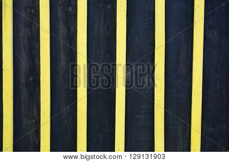 Blue And Yellow Wood Separated To Background Vertical Plank