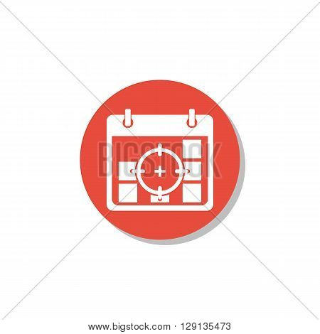Deadline Icon In Vector Format. Premium Quality Deadline Symbol. Web Graphic Deadline Sign On Red Ci