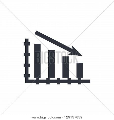 Stats Down Icon In Vector Format. Premium Quality Stats Down Symbol. Web Graphic Stats Down Sign On