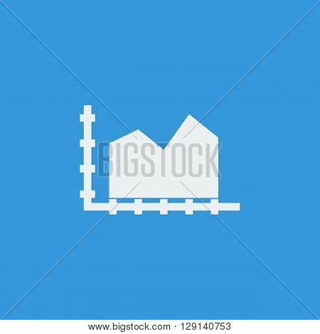Area Chart Icon In Vector Format. Premium Quality Area Chart Symbol. Web Graphic Area Chart Sign On