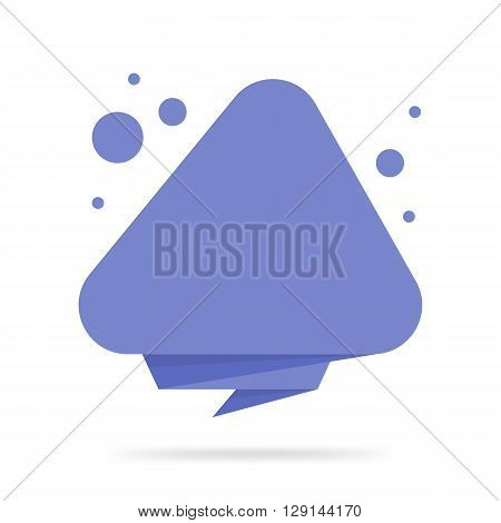 Origami style sticker and banner tamplate. Isolated on white background. Blank for your text Web site and projects