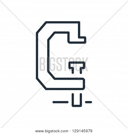 Vice icon in thin line style. Vector illustration isolated on white background
