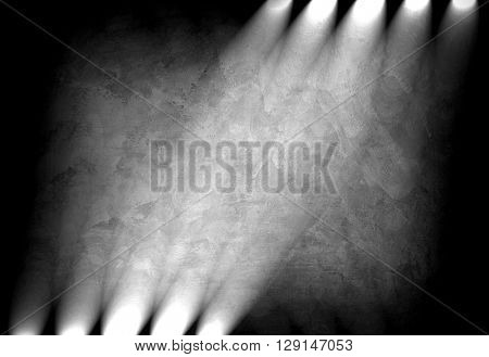 concrete wall with lighting background