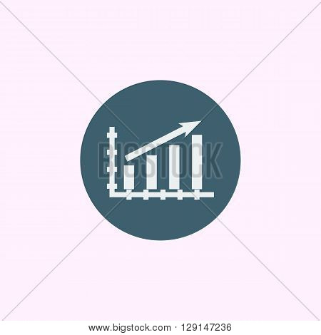 Stats Up Icon In Vector Format. Premium Quality Stats Up Symbol. Web Graphic Stats Up Sign On Blue C