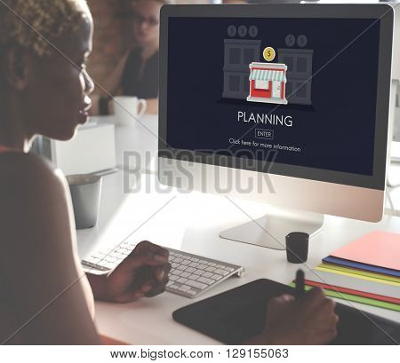 Plan Planning Business Opportunity Work Concept poster