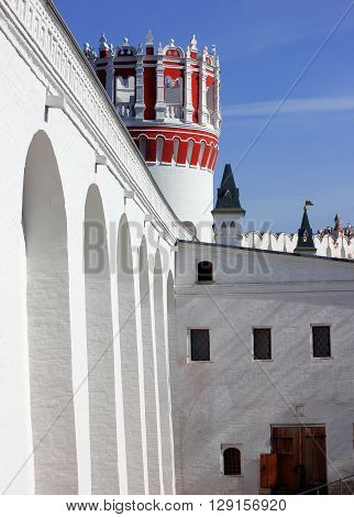 The towers and walls of the Novodevichy convent in Moscow