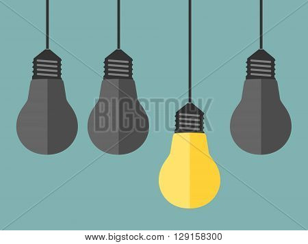 Glowing Yellow Unique Lightbulb