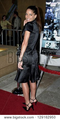 "Ana Claudia Talancon at the Los Angeles premiere of ""Matando Cabos"" held at the Eygptian Theatre in Hollywood, USA on on August 22, 2005."