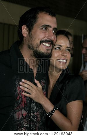 """Ana Claudia Talancon and Alejandro Lozano at the Los Angeles premiere of """"Matando Cabos"""" held at the Eygptian Theatre in Hollywood, USA on on August 22, 2005."""
