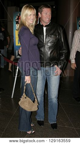 """Wayne Gretzky and Janet Jones at the World premiere of """"Dirty Deeds"""" held at the DGA Theatre in Hollywood, USA on August 24, 2005."""