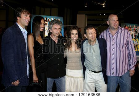 Todd Zeile, Zoe Saldana, Lacey Chabert, David Kendall and Dan Kaplow at the World premiere of
