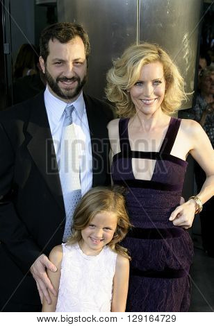 "Judd Apatow, Leslie Mann and daughter Maude at the Los Angeles premiere of ""The 40 Year-Old Virgin"" held at the ArcLight Theatre in Hollywood, USA on August 11, 2005."