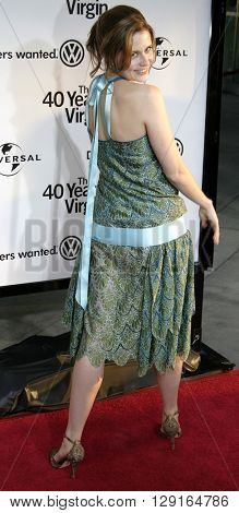"Jenna Fischer at the Los Angeles premiere of ""The 40 Year-Old Virgin"" held at the ArcLight Theatre in Hollywood, USA on August 11, 2005."