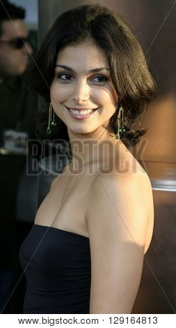 """Morena Baccarin at the Los Angeles premiere of """"The 40 Year-Old Virgin"""" held at the ArcLight Theatre in Hollywood, USA on August 11, 2005."""