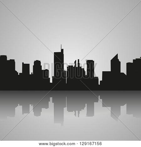 Manila Philippines skyline silhouette black and white design vector illustration