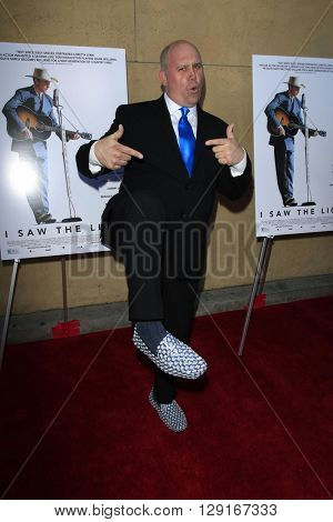 LOS ANGELES - MAR 22:  James DuMont at the I Saw the Light LA Premiere at the Egyptian Theatre on March 22, 2016 in Los Angeles, CA