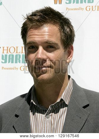 Michael Weatherly at the W Magazine Hollywood Yard Sale held at the W Mag in Los Angeles, USA on September 12, 2004.