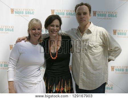 Alice Alston, Jane Kaczmarek and Bradley Whitford at the W Magazine Hollywood Yard Sale held at the W Mag in Los Angeles, USA on September 12, 2004.