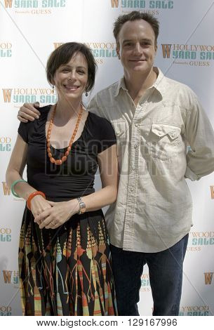 Jane Kaczmarek and Bradley Whitford at the W Magazine Hollywood Yard Sale held at the W Mag in Los Angeles, USA on September 12, 2004.