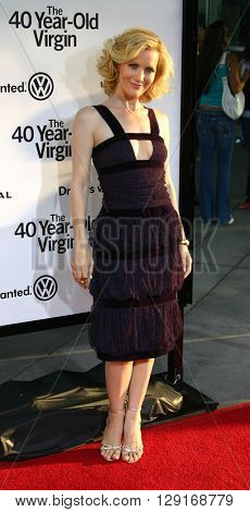 "Leslie Mann at the Los Angeles premiere of ""The 40 Year Old Virgin"" held at the ArcLight Theatre in Hollywood, USA August 11, 2005."