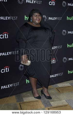 LOS ANGELES - MAR 18:  Gabourey Sidibe at the PaleyFest 2016 - Difficult People at the Dolby Theater on March 18, 2016 in Los Angeles, CA
