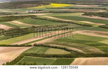 View Of Agricultural Landscape  At Vienna