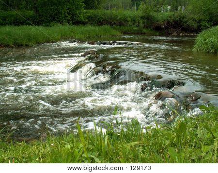 River In Latgalia (Latvia)