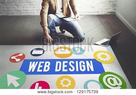 Web Design Evolution Innovation Technology Concept
