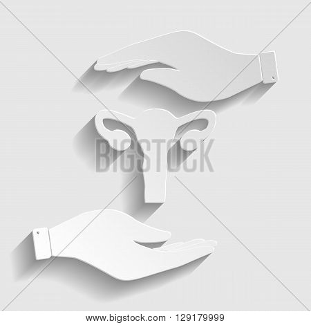 Human Body Anatomy. Uterus sign. Flat style icon vector illustration.